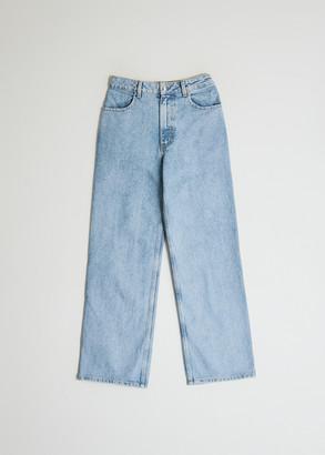 Eckhaus Latta Women's Wide Leg Jean In True Blue, Size 25   100% Cotton