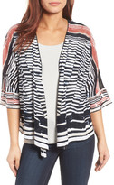 Nic+Zoe Print Four-Way Linen Blend Cardigan (Regular & Petite)