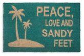 Marlo Lorenz Peace Love & Sandy Feet Door Mat