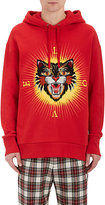 Gucci Men's Tiger-Patch Cotton Terry Hoodie