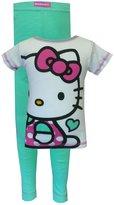 AME Sleepwear Hello Kitty Pink and Mint Green Pajama Set for girls