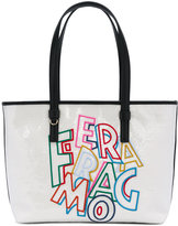 Salvatore Ferragamo logo embroidered sequin tote bag