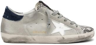 Golden Goose Superstar Sneaker in Rock Snake/Ice/White/Blue
