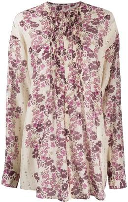DSQUARED2 Floral Tie Neck Blouse