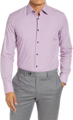HUGO BOSS Slim Fit Dobby Dress Shirt