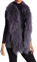 Haute Hippie Genuine Lamb Fur Trim Vest