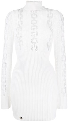 Philipp Plein Sequin Chain Knit Dress