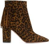Aquazzura Regent leopard-print ankle boots