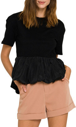 ENGLISH FACTORY Peplum Combo Top