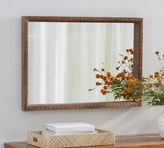 Pottery Barn Carved Wood Mirror