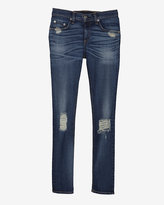 Rag and Bone Exclusive Midrise Ankle Destroyed Denim
