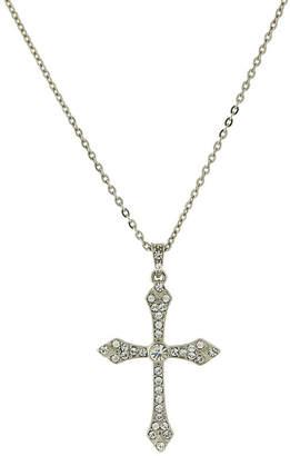 1928 Jewelry 1928 Religious Jewelry Religious Jewelry 16 Inch Link Cross Pendant Necklace