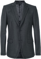 Alexander McQueen striped seam blazer - men - Silk/Viscose/Wool - 50