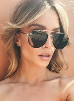 MinkPink Gold/Green Retrograde Sunglasses