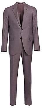 Ermenegildo Zegna Men's Milano Two-Button Tonal Weave Suit