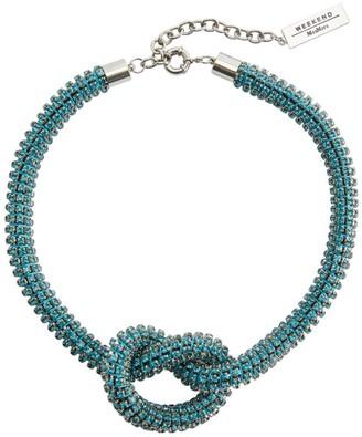 Max Mara Rhinestone Twist-Detail Choker Necklace