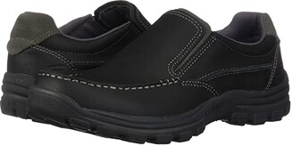Skechers Relaxed Fit Braver - Rayland (Black) Men's Slip on Shoes