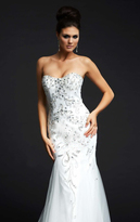Mac Duggal Evening Gowns - 82107 in White/Silver