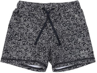 Wheat Mickey Mouse Print Lycra Swim Shorts