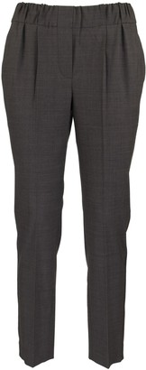 Brunello Cucinelli Grey Pants With Chain Appliques