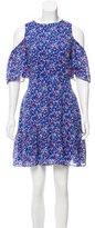 Tanya Taylor Cold Shoulder Silk Dress