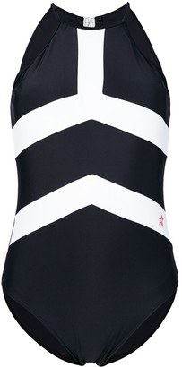 Perfect Moment Contrast Stripe Detail One Piece