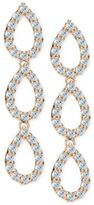 Giani Bernini Cubic Zirconia Pavé Triple Drop Earrings in Sterling Silver and 18k rose gold-plated sterling silver, Created for Macy's