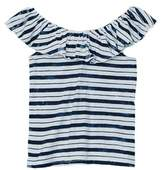 Splendid Girls' Stripe Peasant Top.