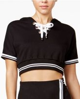 The Edit By Seventeen Lace-Up Cropped Hoodie, Created for Macy's