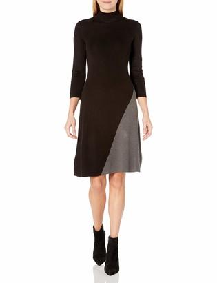 Calvin Klein Women's Color Block Angle Bottom Dress