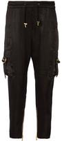 Balmain Cropped Satin Pants - FR38