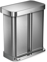 Simplehuman Brushed Stainless Steel 58L Dual Compartment Recycler