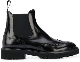 Doucal's Rome patent chelsea boots