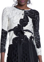 Tracy Reese Belted Floral Cardigan