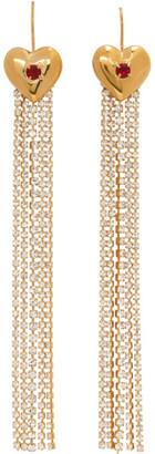 MONDO MONDO Gold Super Lover Crystal Earrings