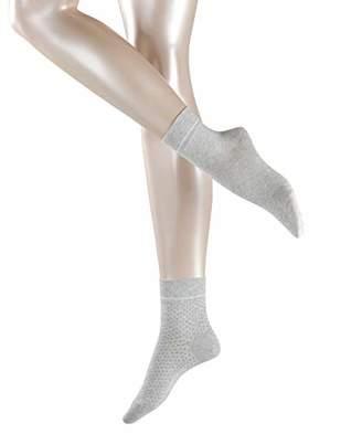 Esprit Women's Nice Stripe & Dot Ankle Socks, (Black 3000), (Size: 35-38) (Pack of 2)