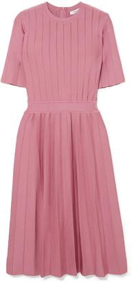 CASASOLA Ribbed Stretch-knit Dress