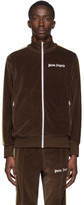 Palm Angels Brown Chenille Track Jacket
