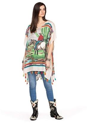 Double D Ranchwear Saltillo Cowboy Poncho (Multi) Women's Clothing