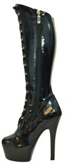 "The Highest Heel Halloween Women's 6"" Platform Lace Up Below Knee Stretch Boot"