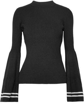 Mother of Pearl Corinne Striped Ribbed-knit Sweater