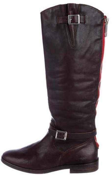 Golden Goose Leather Knee-High Boots Brown Leather Knee-High Boots