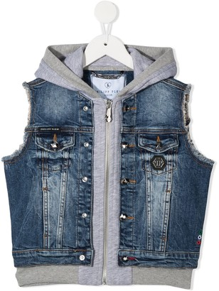 Philipp Plein Junior Rock PP denim gilet