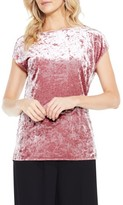 Vince Camuto Women's Crushed Velvet Knit Tee