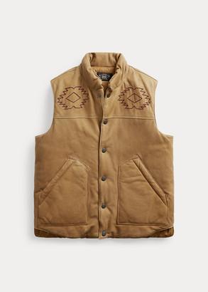 Ralph Lauren Hand-Embroidered Leather Vest
