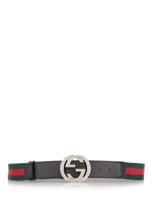 Gucci Web Signature Buckle Belt