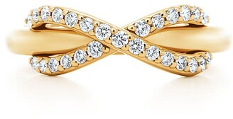 Tiffany & Co. & Co. Infinity ring in 18k gold with diamonds - Size 7 1/2