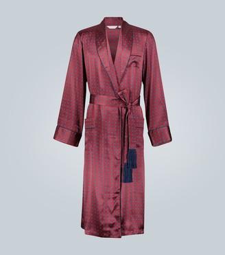 Derek Rose Brindisi printed silk robe