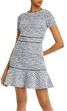Aqua Piped Ruffled Hem Dress - 100% Exclusive