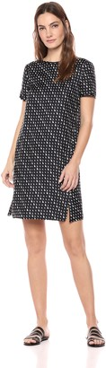 Theory Women's Short Sleeve Silk TEE Dress